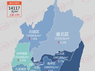 房价地图|5月重庆房价14117元/㎡!